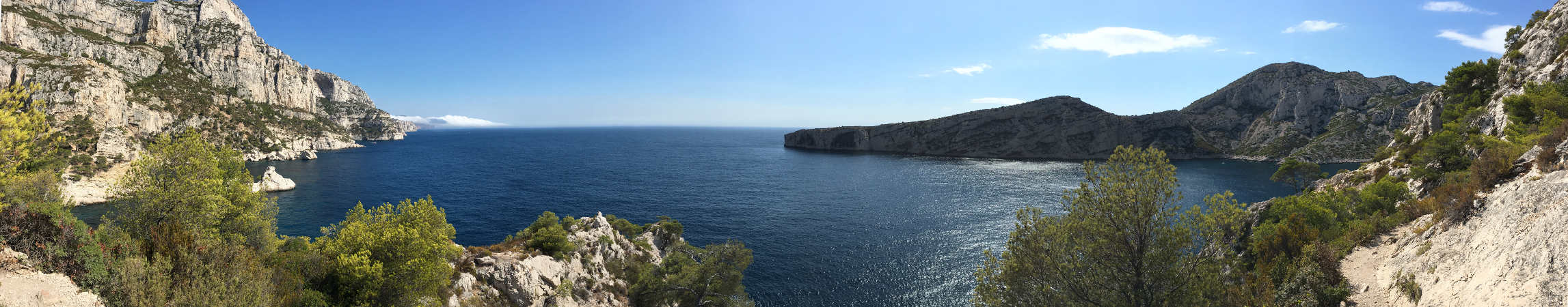 View of the Calanques near Marseilles, France